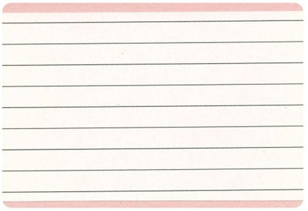 Note Card Back