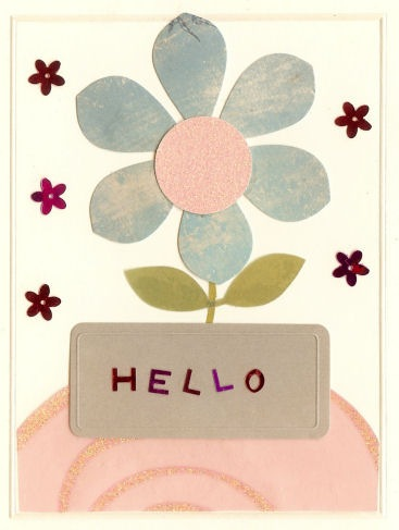 flower hello card