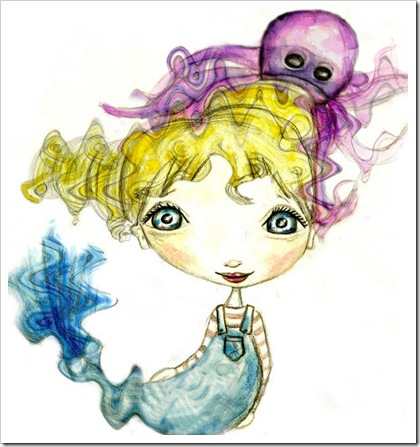 octopus and mermaid